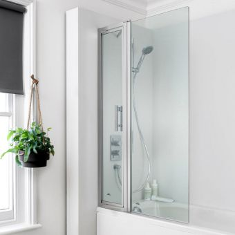 Crosswater Click Easy Reach Bath Screen