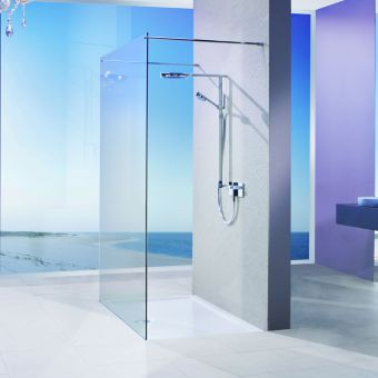 Matki Twin Entrance Wet Room Panel With Brace Bars