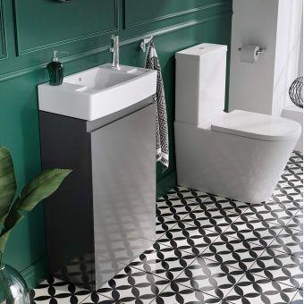 Britton Compact Cloakroom Floorstanding Vanity Unit