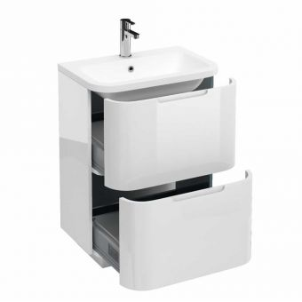 Britton Compact Floorstanding 2 Drawer Vanity Unit