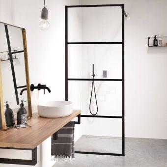 Impey Soho Single Walk in Wetroom Panel - AH24-BAR100