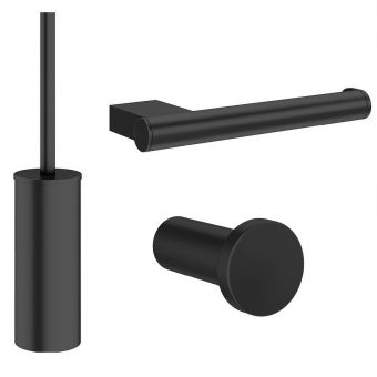 Crosswater MPRO Matt Black Bathroom Accessory Pack