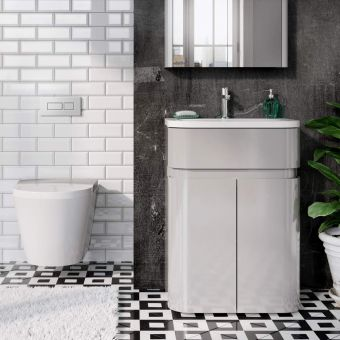 Britton D45 Gullwing Cabinet with Quattrocast Basin