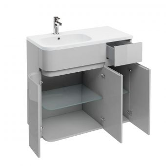 Britton D45 Arc Cabinet with Quattrocast Basin