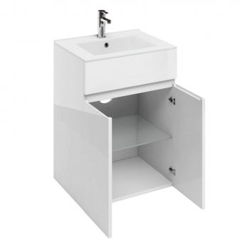 Britton D45 Double Door Base Unit with Ceramic Basin