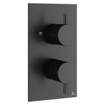 Crosswater MPRO Matt Black Shower Valve