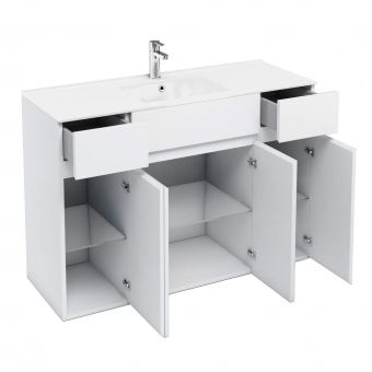 Britton D45 Four Door Vanity Unit with Two Drawers