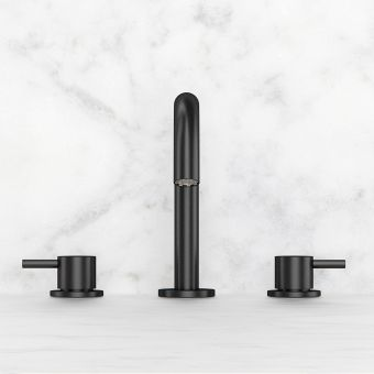 Crosswater MPRO Matt Black 3 Hole Basin Tap
