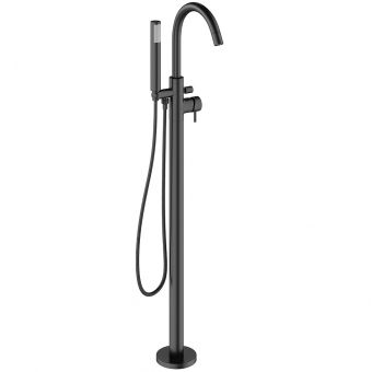 Crosswater MPRO Matt Black Floorstanding Bath Shower Mixer