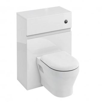 Britton D30 Toilet Unit with Flush Button for Wall Hung Toilets