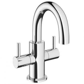 Crosswater MPRO Chrome Twin Lever Mini Basin Mixer Tap
