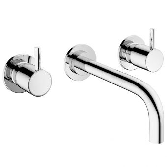Crosswater MPRO Chrome 3 Hole Wall Mounted Basin Tap