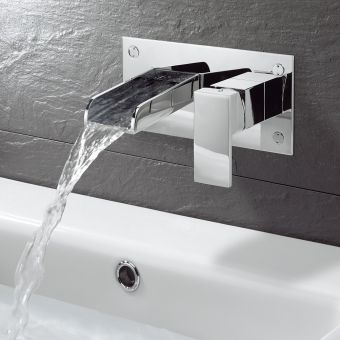 Crosswater Water Square Wall Mounted  Basin Mixer Tap