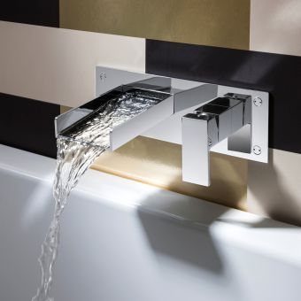Crosswater Water Square Wall Mounted  Bath Filler Tap