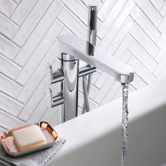 Crosswater Celeste Floorstanding Bath Mixer with Shower Kit