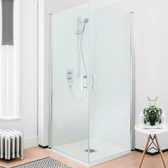 Crosswater (Simpsons) Click Easy Access Double Hinged Shower Door