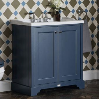 Bayswater 2 Door Basin Cabinet with Traditional Basin