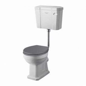 Bayswater Fitzroy Comfort Height Low Level Toilet with Ceramic Lever Flush