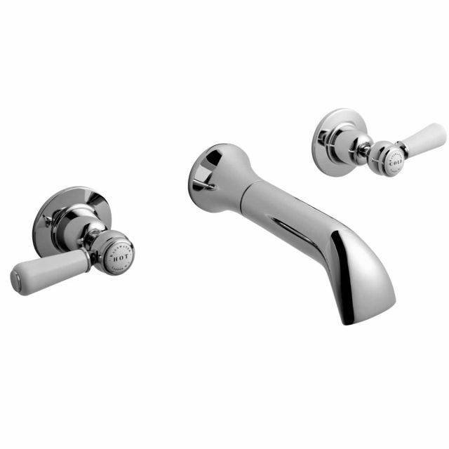 Bayswater Lever 3 Tap Hole Wall Mounted Bath Filler