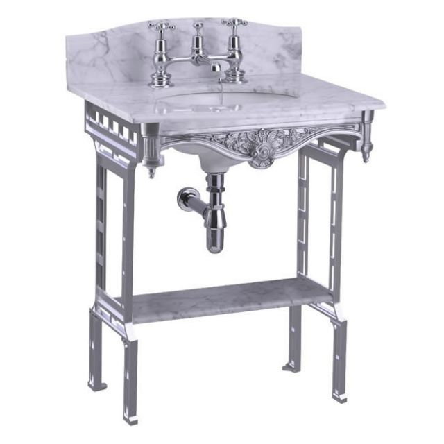 Burlington Margavine Georgian Basin with Aluminium Washstand