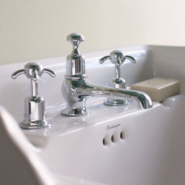 Burlington Anglesey 3 Hole Basin Mixer Tap