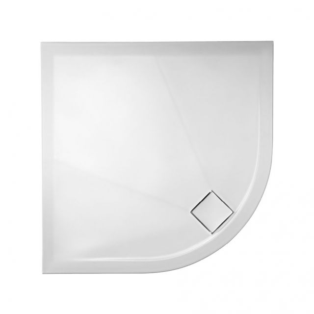 Crosswater Quadrant 30mm PLUS+TON Matt White Ceramic Shower Tray