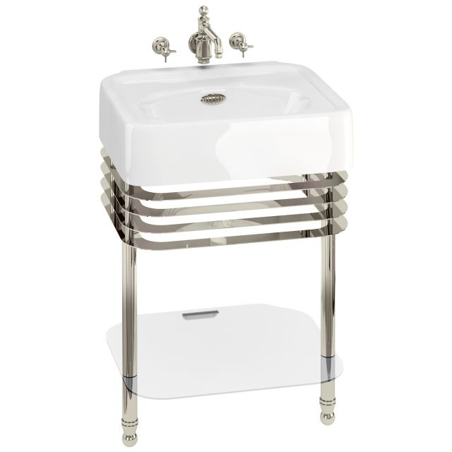 Arcade Small 60cm Basin with Washstand
