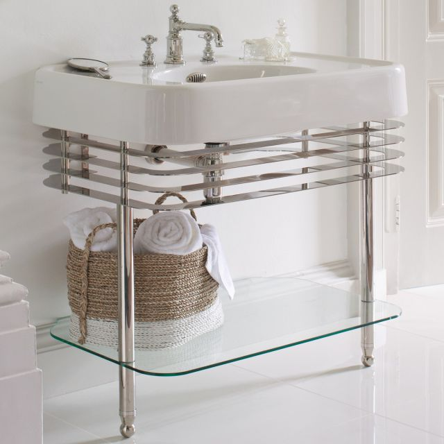 Arcade Medium 90cm Basin with Washstand
