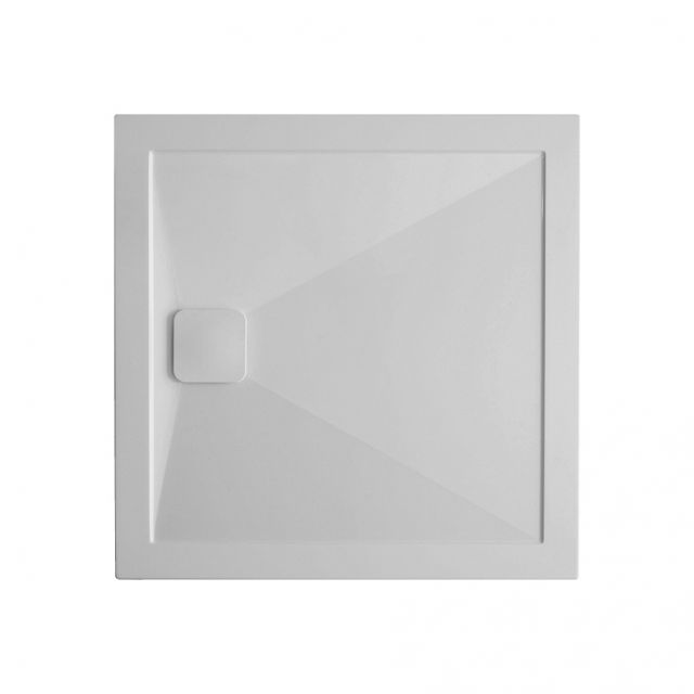 Crosswater 25mm Kai Stone Resin Square Shower Tray