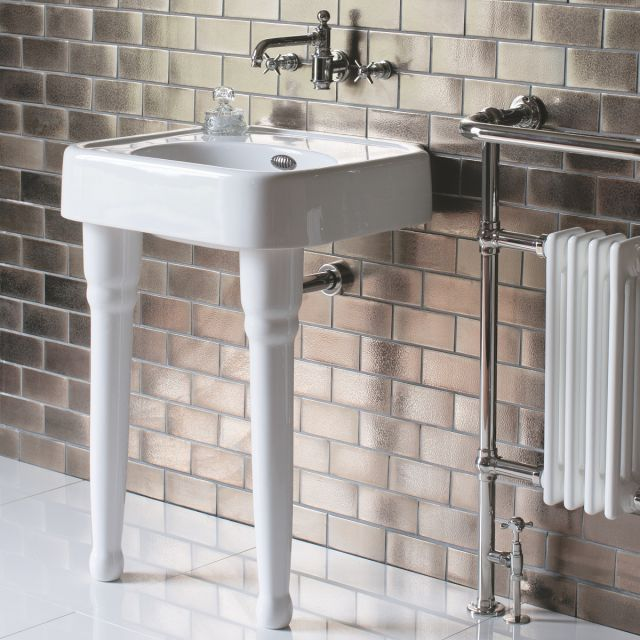 Arcade Small 60cm Basin with Console Legs