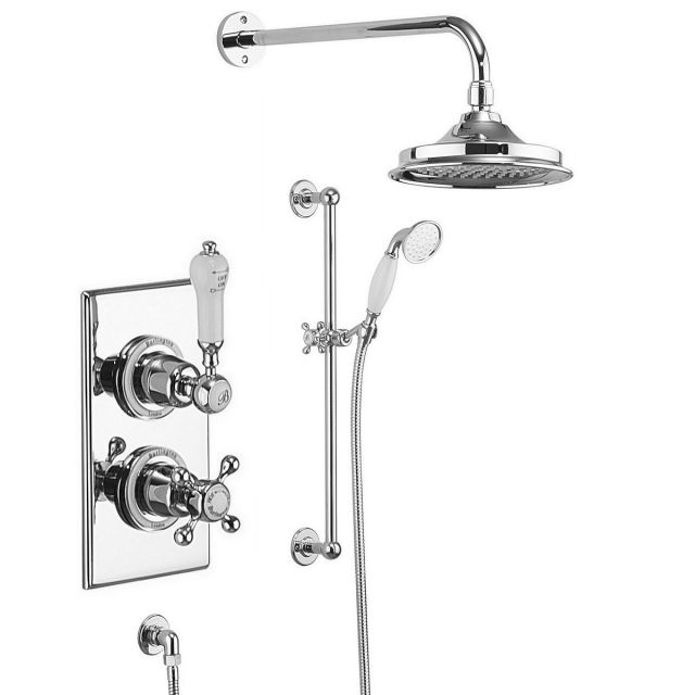 Burlington Trent Concealed Valve with Showerhead and Rail