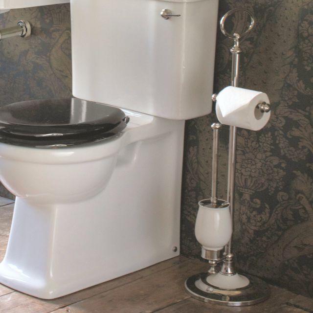 Arcade Freestanding Toilet Roll and Brush Holder