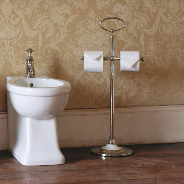 Arcade Freestanding Double Toilet Roll Holder