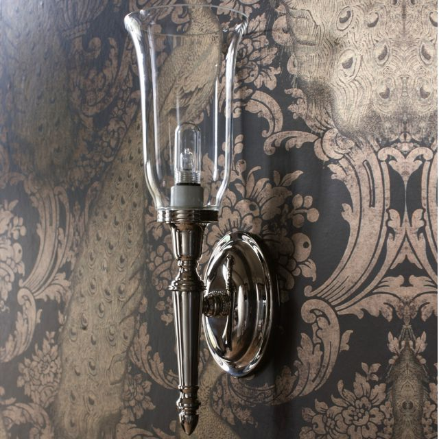Arcade Clear Vase Shade Bathroom Light
