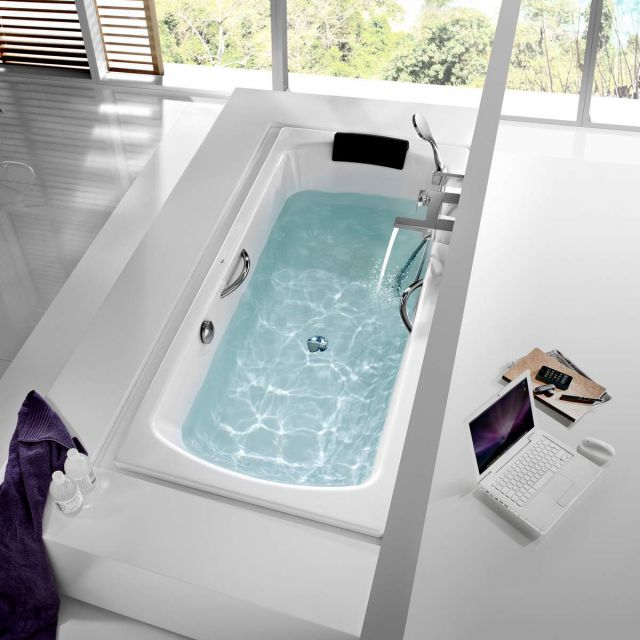 Roca Lun Plus Steel Bath with Antislip