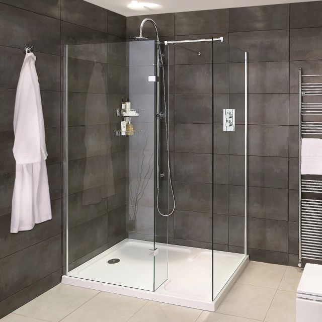 Aqata Spectra SP425 Walk In Corner Shower