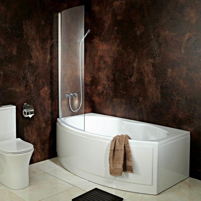 Phoenix Napoli Shower Bath with Shower Screen