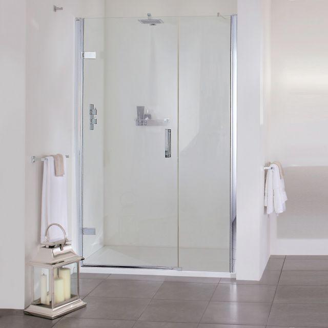 Aqata Spectra SP457 Hinged Shower Door with Inline Panel