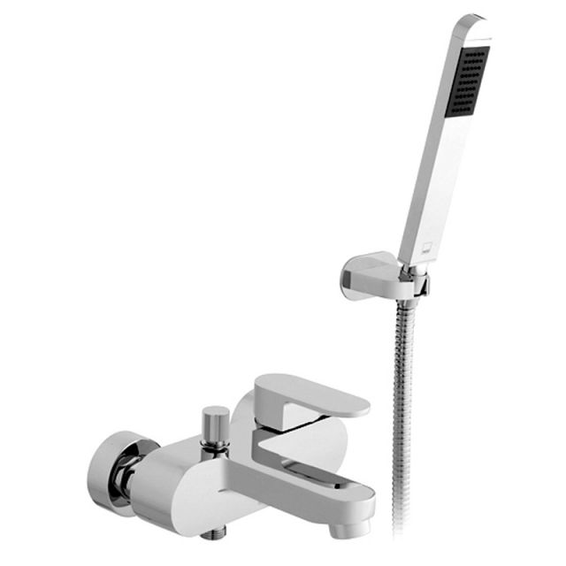 Vado Life Wall Mounted Bath Shower Mixer Tap - LIF-123+K-C/P