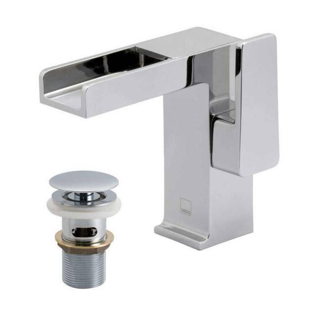 Vado Synergie Basin Mixer Tap with Waterfall Spout