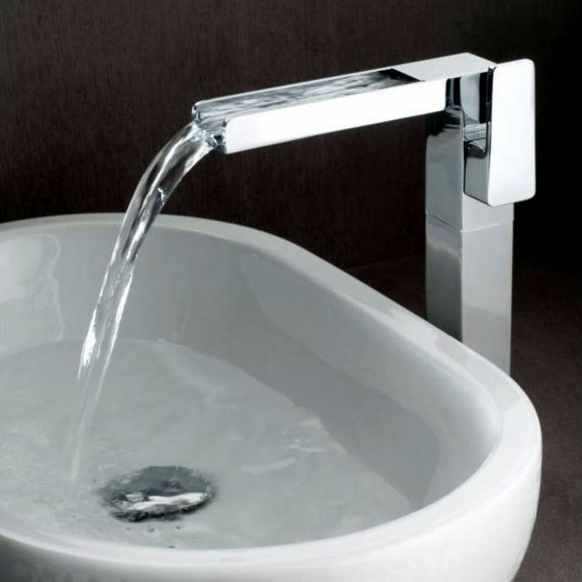 Vado Synergie Extended Basin Mixer with Waterfall Spout