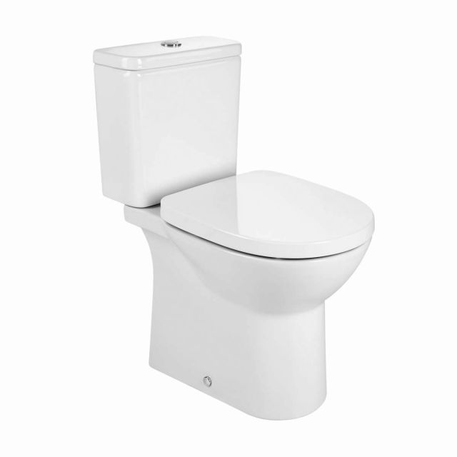 Roca Debba Rimless Open Back Close Coupled Toilet - 34299P000