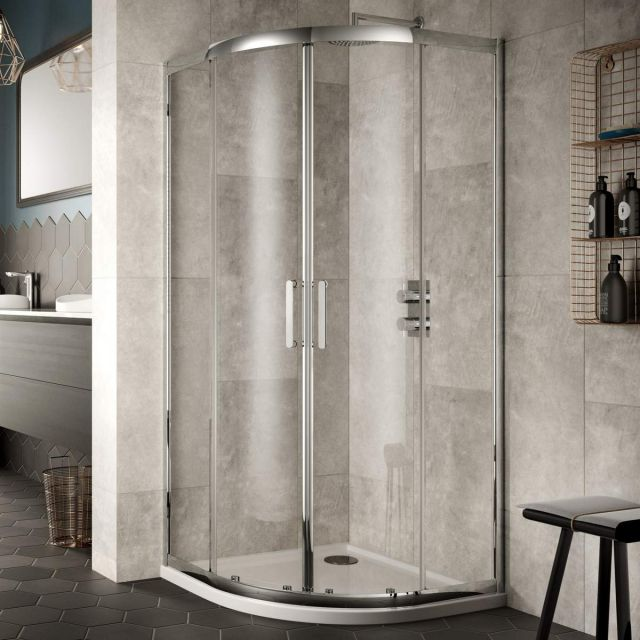 Sommer 8 Contemporary Double Door Quadrant Shower Enclosure