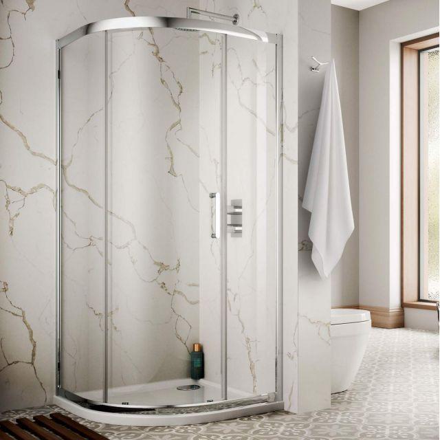 Sommer 8 Contemporary Single Door Quadrant Shower Enclosure
