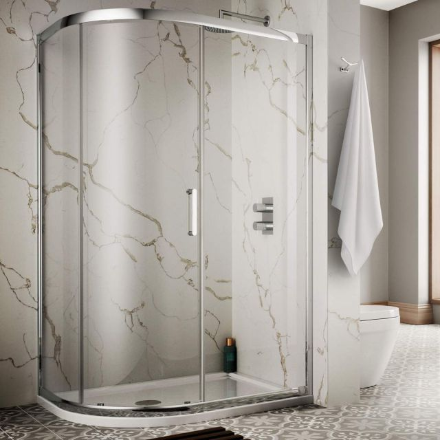 Sommer 8 Single Door Offset Quadrant Shower Enclosure