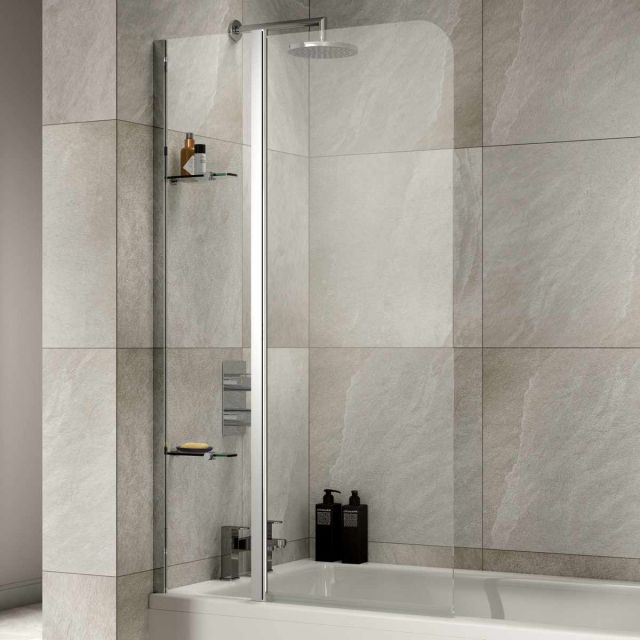 Sommer Extended Half Radius Bath Screen with Fixed Panel