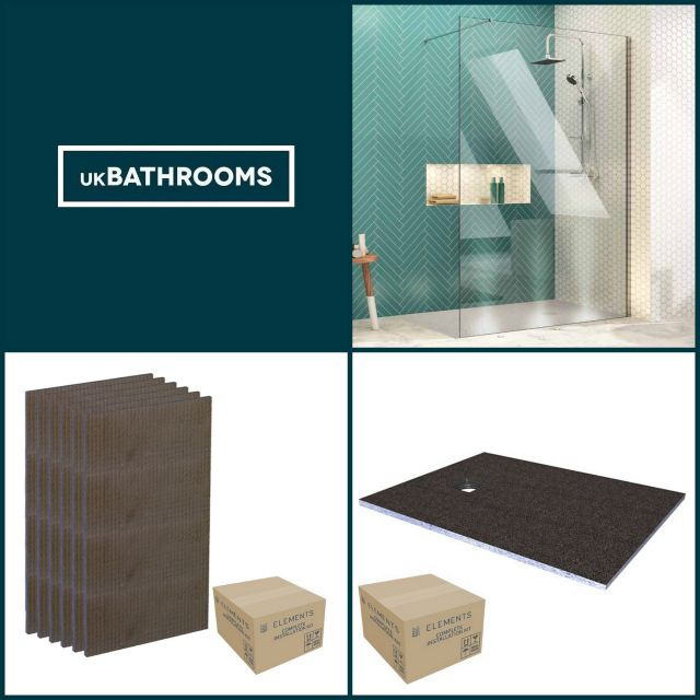 Origins Square Wet Room Shower Pack 2