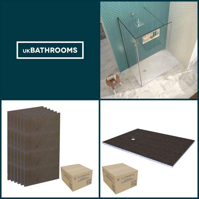 Origins Square Wet Room Shower Pack 4
