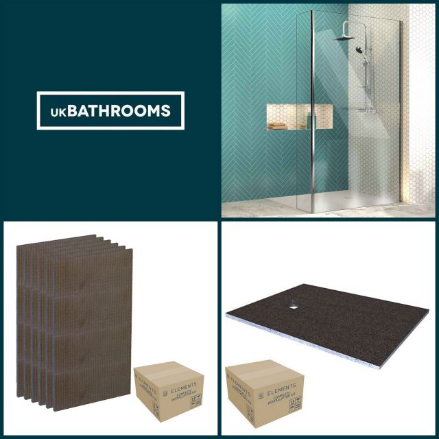 Origins Square Wet Room Shower Pack 5