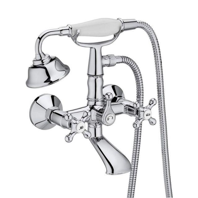 Roca Carmen Wall-mounted Bath Filler with Shower Handset